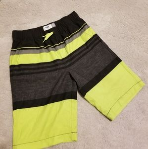 Awesome boys old navy color block swim trunks